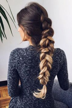 Gorgeous Dutch Braid on @mimiikonn with her Ombre Blonde Luxy Hair Extensions to add colour, volume, and length. #LuxyHairExtensions