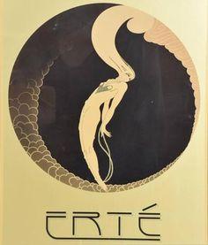 Romain de Tirtoff Erte Art Deco Poster by Erté Art Deco Artwork, Art Deco Paintings, Art Deco Posters, Retro Poster, Vintage Posters, Vintage Art, Art Deco Illustration, Erte Art, Kunst Inspo