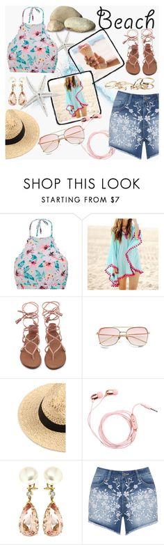 """""""Walk On The Beach"""" by faseeha-noor ❤ liked on Polyvore featuring Sunset Hours, Valentin Magro, Mat and GUESS"""