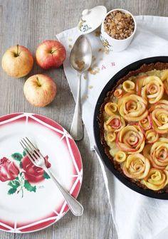 Tarte aux pommes-roses