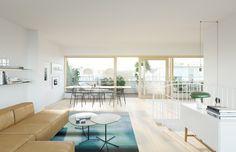 Claesson Koivisto Rune Revitalizes a Stockholm Apartment Building Stockholm Apartment, Penthouse Apartment, Residential Complex, Apartment Complexes, Nordic Home, Pent House, Modern Decor, Architecture Design, Building Architecture