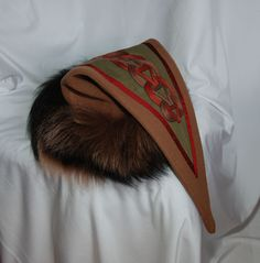 Viking triangle hat with a design from Gosforth. (1) - Othala Craft