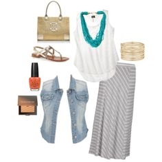 """""""Plus Size: Casual Chic (Summer)"""" by fablifeofbri on Polyvore"""
