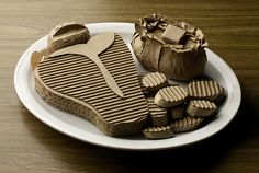 cardboard food sculptures - Google Search