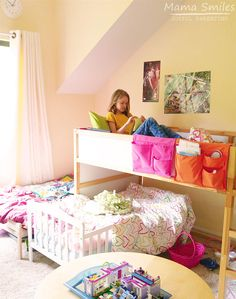 Check out how this family is adapting to make a small living space work as their children grow up and crave more space of their own that can be customized to meet their individual interests. Siblings Sharing Bedroom, Sibling Bedroom, Sister Bedroom, Girls Bedroom, Bedroom Ideas, Small Shared Bedroom, Shared Bedrooms, Small Room Bedroom, Kid Bedrooms