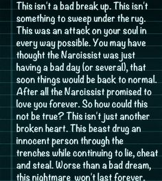 This isn't...... #IKnowWhatYouAre #ToxicNonsense #Narcissist #AbusiveRelationship #SalsarahBelievesSheCanHelpOthers