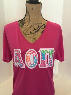 Sorority Greek Letter Shirt Lilly Pulitzer UXAh3XQ