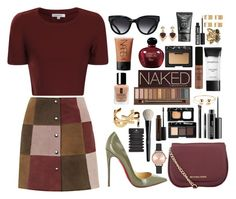 """""""1846"""" by caitypeters ❤ liked on Polyvore featuring Topshop, Glamorous, Christian Louboutin, Triwa, Christian Dior, MAC Cosmetics, NARS Cosmetics, MICHAEL Michael Kors, Urban Decay and NYX"""