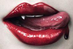 Lips goth and vampire