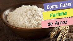 como fazer farinha de arroz - YouTube