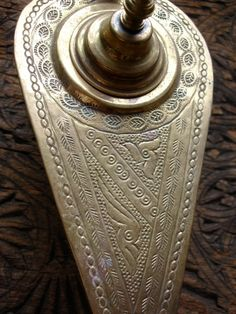 Brass engraved Moroccan Aladdin's genie lamp for by HilarysBazaar
