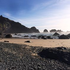 A view from an Ecola State Park Beach, there are many diferent hiking trails and outlets to secret beaches all along the Ecola State Park coastline.