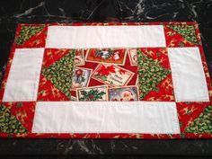 victorian christmas quilted placemats - Google Search