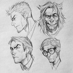 #art #sketch #man #face #emotion