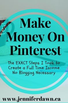 How To Make Money on Pinterest - NO BLOGGING REQUIRED