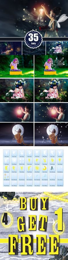35 fairy pixie photo overlays, png. Photoshop Layer Styles. $10.00