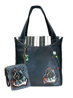 378a7be613b Handbags Big- Everyday Tote Women Handbag with Zip Around Wallet - Piano -  Bags