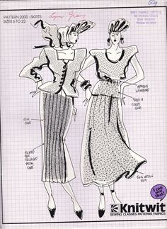 Knitwit 2000 Ladies' Pleated, Tucked or Gathered Skirts, Uncut, Factory Folded Sewing Pattern Multi Plus Size Vintage Knitting, Vintage Sewing Patterns, Knitted Tea Cosies, Kwik Sew, Gathered Skirt, Vintage Vogue, Double Knitting, Sewing Techniques, Trending Outfits