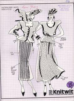 80's Sewing Pattern  Knitwit 2000 Designer by jennylouvintage