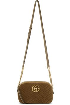 cfc0d6403c04 Buy Gucci Brown GG Marmont 2.0 Camera Bag on SSENSE.com and get free  shipping