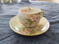 Nice fancy Bavaria made in germany pink floral apple blossom cup and saucer tea cup by JasonsCollectables on Etsy https://www.etsy.com/ca/listing/478904635/nice-fancy-bavaria-made-in-germany-pink