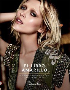 Hana Jirickova for El Libro Amarillo Spring Summer 2015 - GUCCI Spring 2015