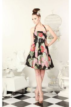 Alice and Olivia: Marie Ruffle Bottom Dress. I can't get over this Japanese-Sakura inspired pattern.