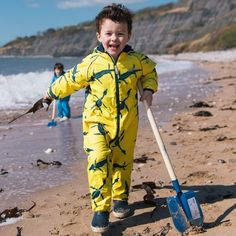 Our EcoSplash all-in-one is made from recycled fabrics. Waterproof and durable, it's perfect for outdoor adventures. Great British, Recycled Fabric, Fun Prints, Cold Day, Hand Warmers, All In One, Raincoat, Sporty, Chickadees