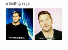 Chris Pratt loves Chris Evans