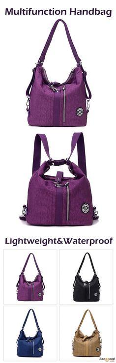 US$26.99+Free shipping. Women bag, Waterproof bag, Nylon Multifunction Bag, Handbag, Crossbody Bag, Shoulder Bag,  Backpack.9 Colors to Match Your Style.