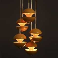 '70's Ceiling LIght by Kaiser Leuchten #Lighting #Kaisere_Leuchten by debbie