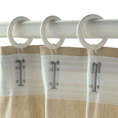 PORTION Anilla cortina con clip y gancho - tinte blanco - IKEA Curtain Rings With Clips, Curtains With Rings, Ikea, White Stain, Kallax, Curtain Rods, Bathroom Hooks, Improve Yourself, Recycling