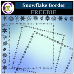 Created with several unique snowflakes, these FREE borders are perfect for adding a touch of winter or Christmas to your projects and teaching resources.