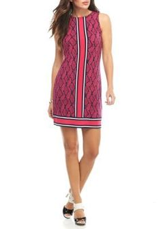 Michael Michael Kors Women's Graphic Mamba Border Dress - Electric Pink - Xl