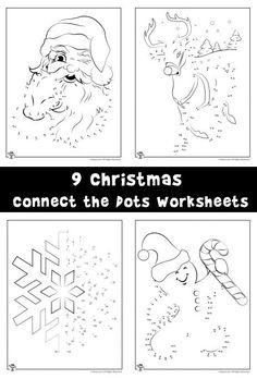 Christmas Connect the Dots Printables Connect the Dots Worksheets Connect Dot to Dot Kindergarten Christmas Worksheets, Christmas Activities, Christmas Printables, Christmas Crafts For Kids To Make, Kids Christmas, Xmas, Printable Coloring Pages, Coloring Pages For Kids, Dot To Dot Puzzles