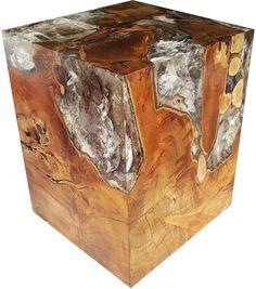 Cube Root Table Teak