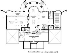 Plan 12225JL Majestic Double Staircase European house plans