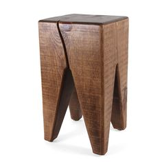 Modern Solid Wood Stool Table - This solid wood stool in a classic shape is great as an easily-moveable stool or as a little side table. The...