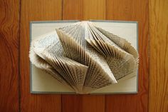 Looking-glass Books: Literary Origami Folded Book Art, Paper Book, Paper Art, Book Crafts, Arts And Crafts, Paper Crafts, Altered Books, Altered Art, Glass Book