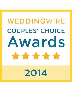 Thanks to our past clients! We won the WeddingWire Couples' Choice Awards 2014 for excellence in quality, service, responsiveness and professionalism!