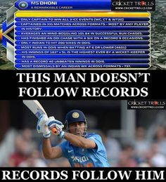 Records created by MS Dhoni in ODIs till now Cricket Videos, Cricket Score, Live Cricket, Dhoni Records, Ms Doni, History Of Cricket, Dhoni Quotes, Ms Dhoni Wallpapers, Cricket Quotes