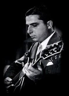 A jazz guitarist without peer in the 1920s, Eddie Lang played primarily with violinist Joe Venuti. This duo stood out as masters of their respected instruments at an early age and were both regarded as the two of the finest 1920s musicians. Giving rise to the guitar and violin as capable instruments within the jazz idiom.