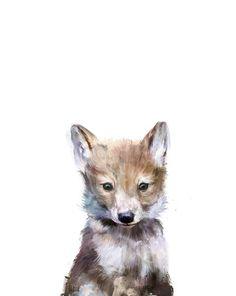 Little Wolf Art Print. So sweet.