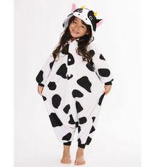 SAZAC Cow Kigurumi for Kids