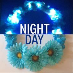LED Flower Crown | With Larger flowers | Light Up Headband for EDM edc raves / music festivals
