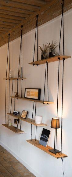 L'étagère balançoire : une étagère suspendue pratique et esthétique ! | escale DESIGN