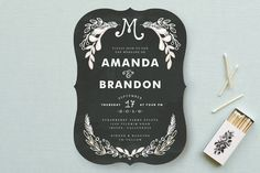 Chalkboard Wedding Invitations by Alethea and Ruth at minted.com
