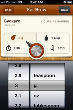 Tea for iPhone. I love this app and use it all the time to track tasting notes, inventory, brewing preferences, etc.
