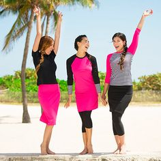 Have fun in the surf and sand while maintaining a comfortable level of modesty. Undercover Waterwear designs swim dresses, skirts and more that are completely on trend and chic enough to wear on dry land.