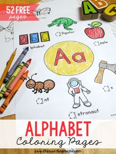 52 FREE Alphabet Coloring Pages for Upper and Lowercase Letters ~ great for handwriting, too! | This Reading Mama